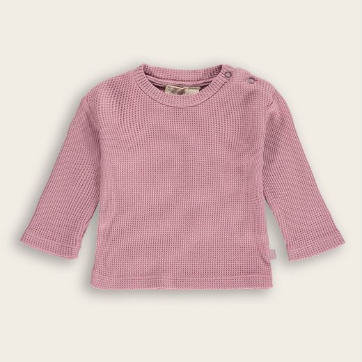 Mini Sibling - Long Sleeve Waffle Baby T-shirt, Petal