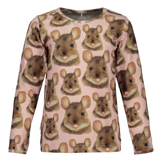 METSOLA - Mouse T-shirt LS, pink