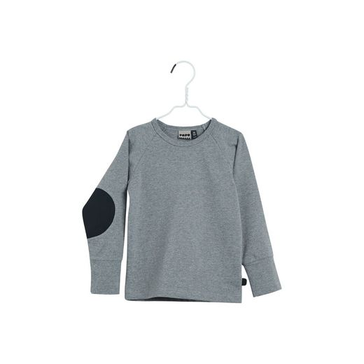 Papu - Patch fold shirt, melanged grey/black