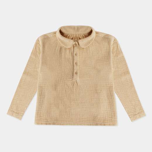 Repose AMS - Peter Pan blouse, beige sand