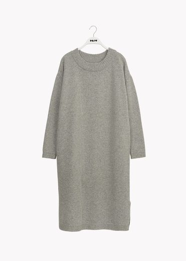 Papu - Soft wool dress, grey