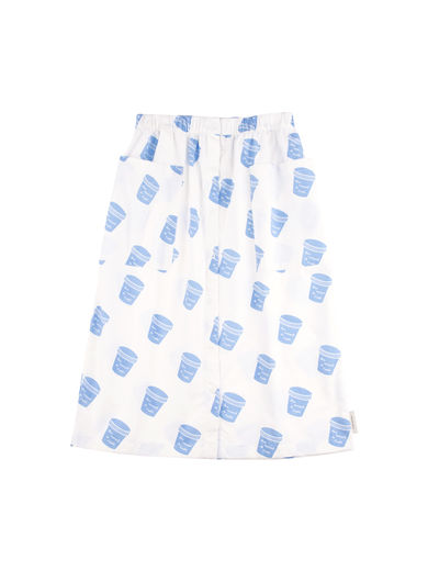 Tinycottons - ´Pots button down wv skirt, off-white/light cerulean blue