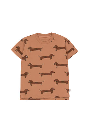 Tinycottons - IL BASSOTTO TEE SHIRT, tan/dark brown