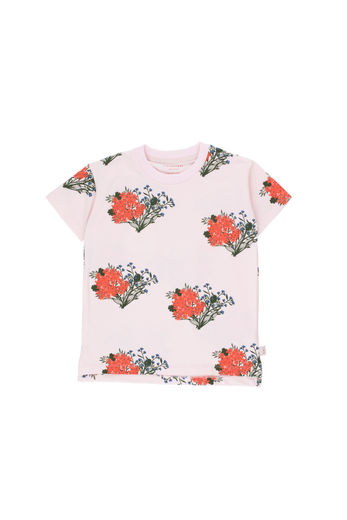 Tinycottons - FLOWERS TEE SHIRT, light pink/red