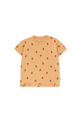 Tinycottons - STRAWBERRIES TEE SHIRT, toffee/red