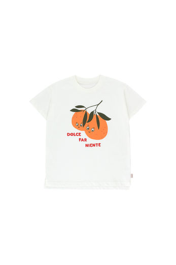 "Tinycottons - ""ORANGES"" TEE, off-white/brick"