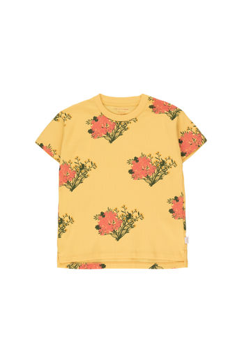 "Tinycottons - ""FLOWERS"" TEE, yellow/light red"