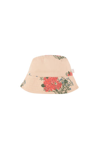 Tinycottons - FLOWERS BUCKET HAT, cappuccino/red