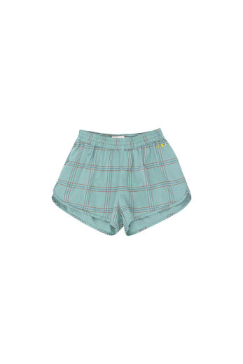 Tinycottons - CHECK SHORT, sea green/red