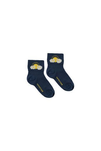 Tinycottons - SLEEPY SUN QUARTER SOCKS, light navy/yellow