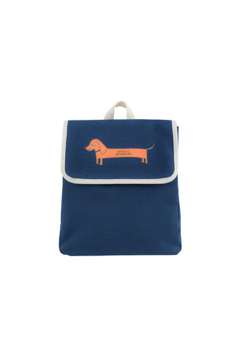 "Tinycottons - ""IL BASSOTTO"" BACKPACK, light navy/brick"