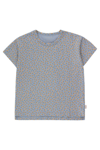 Tinycottons - SMALL FLOWERS TEE, summer grey/honey, SS21-001