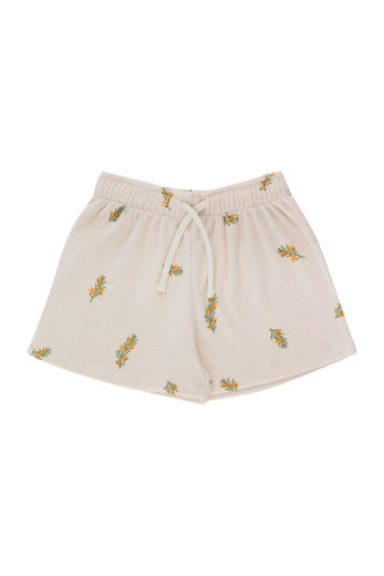 Tinycottons - TWIGS SHORT, light cream/green, SS21-168