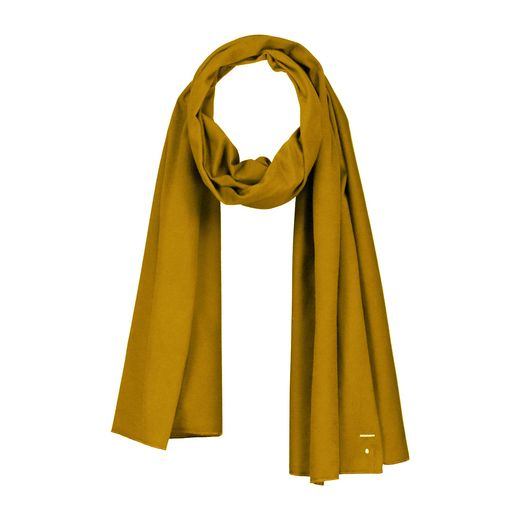 Gray label- Summer raw edge scarf, mustard