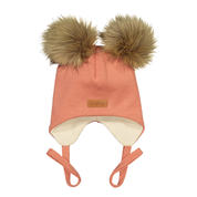 Gugguu - Double furry baby beanie, rose berry