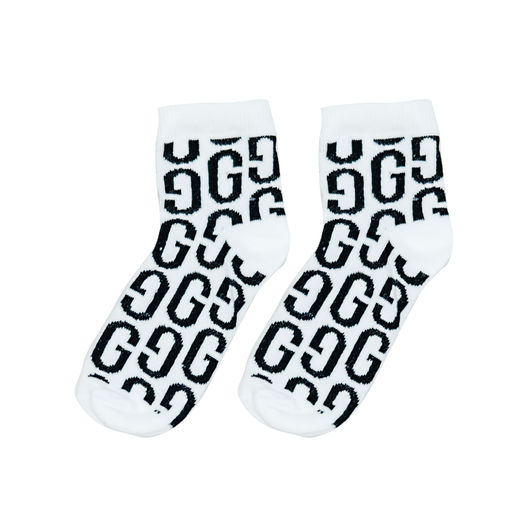 Gardner and the gang - GG ankle socks, white