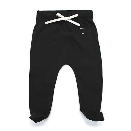 Gray label- Baby footies, nearly black