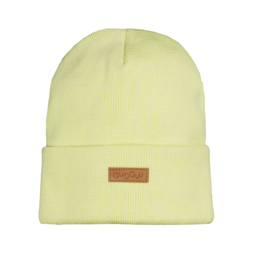 Gugguu - Basic knitted beanie, lime