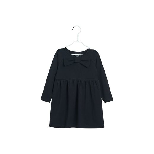 Papu - Bow collar dress, solid black