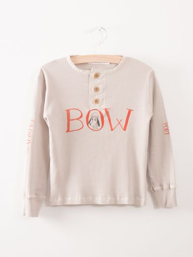 Bobo Choses - Buttons T-Shirt Bow, silver
