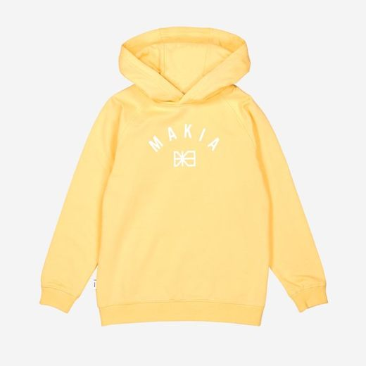 Makia - Brand Hooded Sweatshirt, yellow