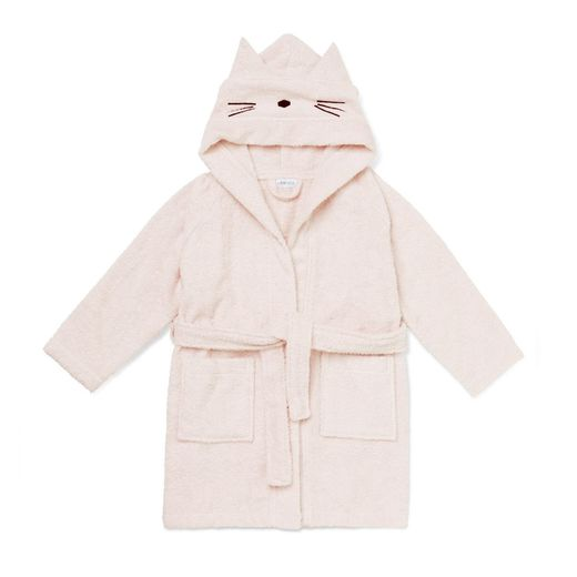 Liewood - Lily bathrobe cat, sweet rose