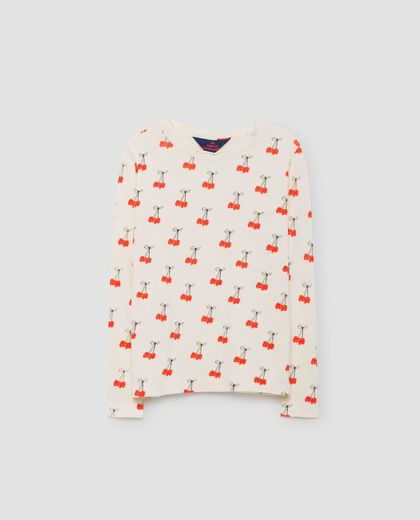 TAO - Dog kids shirt, white cherries