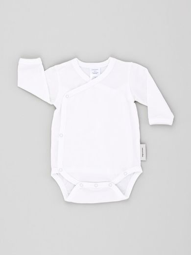 Tinycottons - Basic LS crossed body, white
