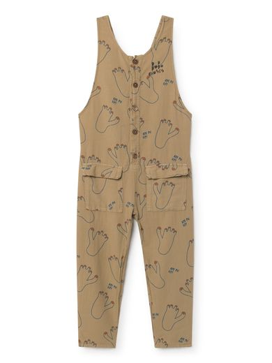 Bobo Choses - Footprint Baggy Jumpsuit, muted clay