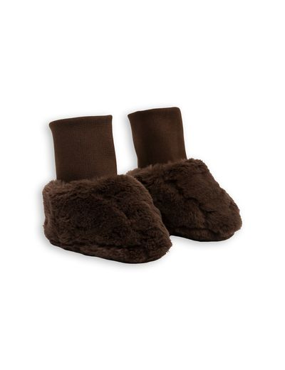 mini rodini - Faux fur baby boot, brown