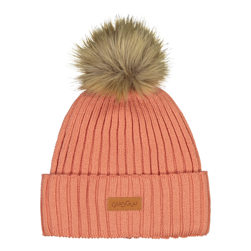 Gugguu - Furry beanie, rose berry