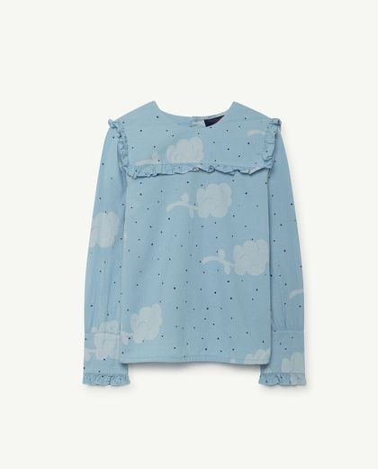 TAO - Gadfly kids shirt, blue flowers