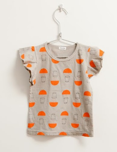 Picnik Barcelona - Frill t-shirt, orange juice