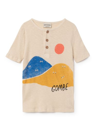 Bobo Choses - T-Shirt buttons mountains, offwhite