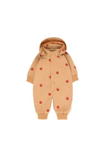 Tinycottons - 'HAPPY FACE' ONE-PIECE camel/red