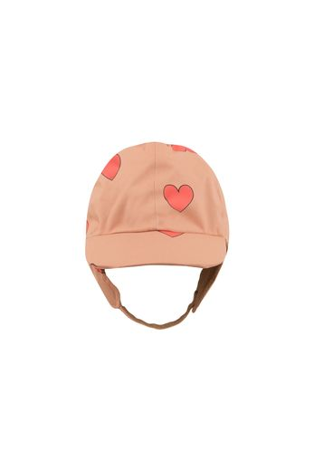 "Tinycottons -""HEARTS"" SNOW HAT tan/red"