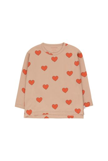 "Tinycottons - ""HEARTS"" TEE light nude/red"