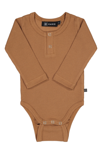Kaiko - Henley body Ls, toffee