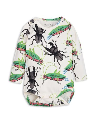 mini rodini - Insects LS body, off white