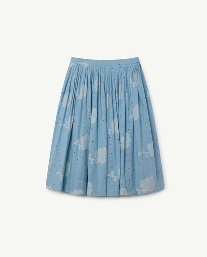 TAO - Jellyfish kids skirt, blue flowers