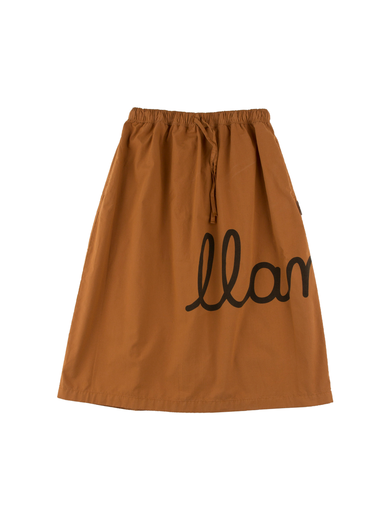 Tinycottons - Llama maxi woven skirt, brown/black