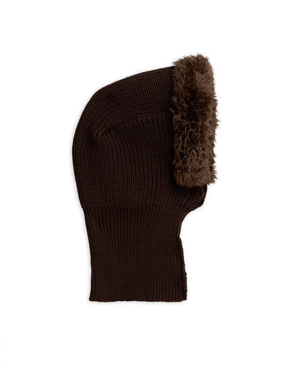 Mini Rodini - Pile balaclava, brown