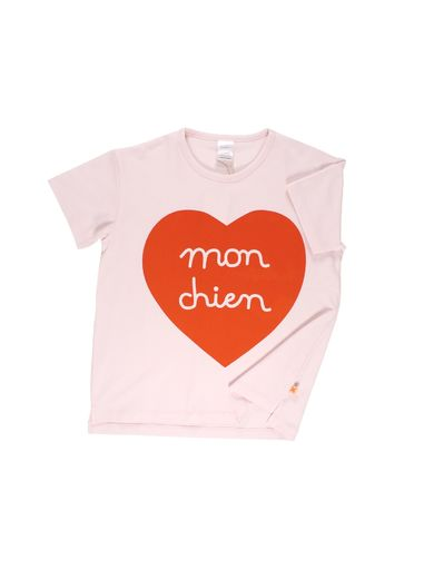 Tinycottons - Mon chien SS oversized gr tee, pale pink