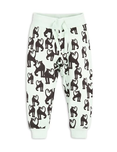 mini rodini - Panther sweatpants, lt green