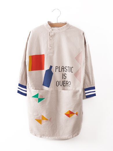 Bobo Choses -  Plastic is over? Tunic Dress, silver