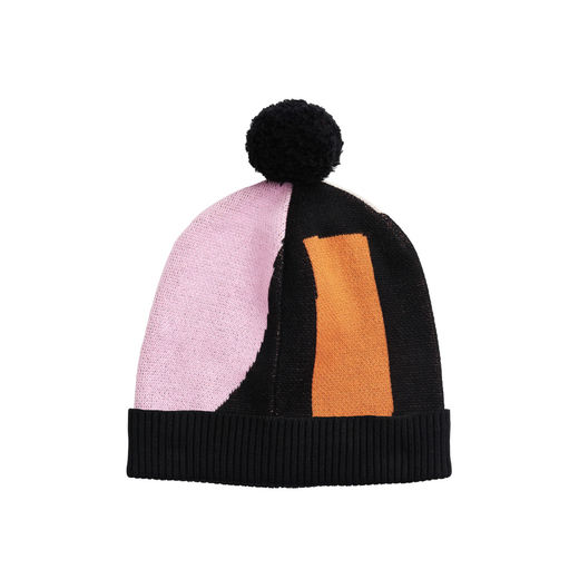 Papu - KNIT POM POM BEANIE Kid,  sand, lilac, orange, black