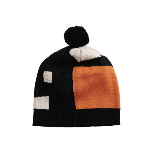 Papu - KNIT POM POM BEANIE adult,  sand, lilac, orange, black