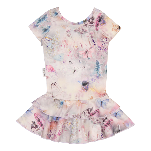 Gugguu - Print frilla T-shirt dress, Fairytale Field
