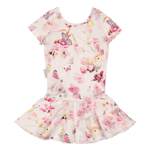 Gugguu - Print frilla T-shirt dress, Romance Butterfly