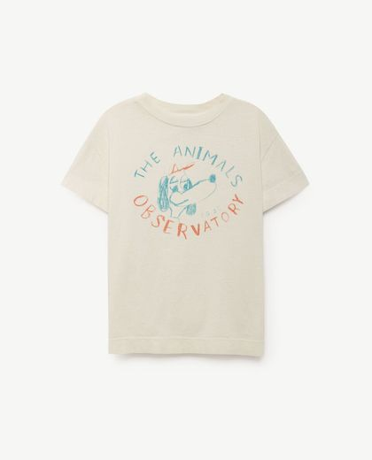 TAO - Rooster babies T-shirt, raw white dog